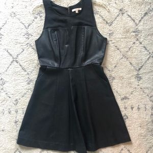 Under Skies leather Aline dress. Size Small